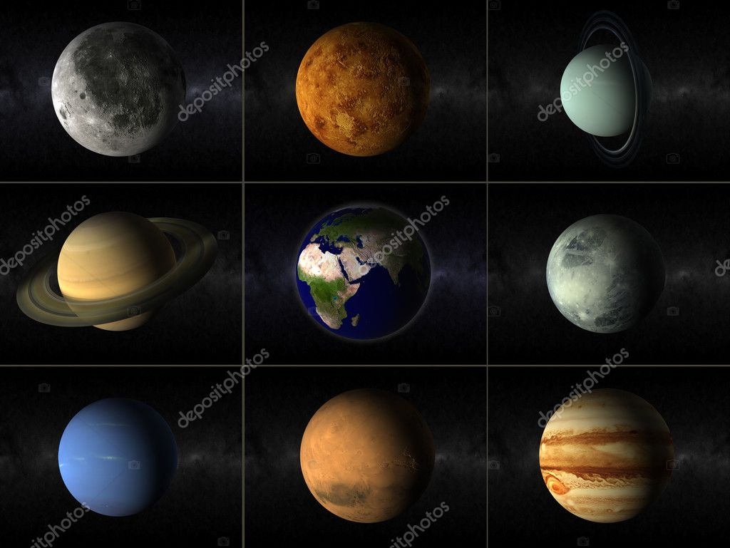 Planets collage