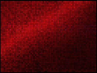 Multicolor Abstract Lights Red Disco Background. Square pixel mo