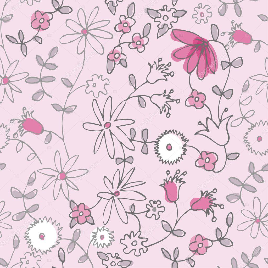 Pink little flower seamless pattern