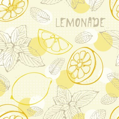 Lemonade seamless pattern
