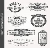 Vector emblemi ornamentali decorativi di qualità
