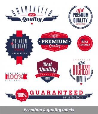 Set of premium & quality labels and emblems