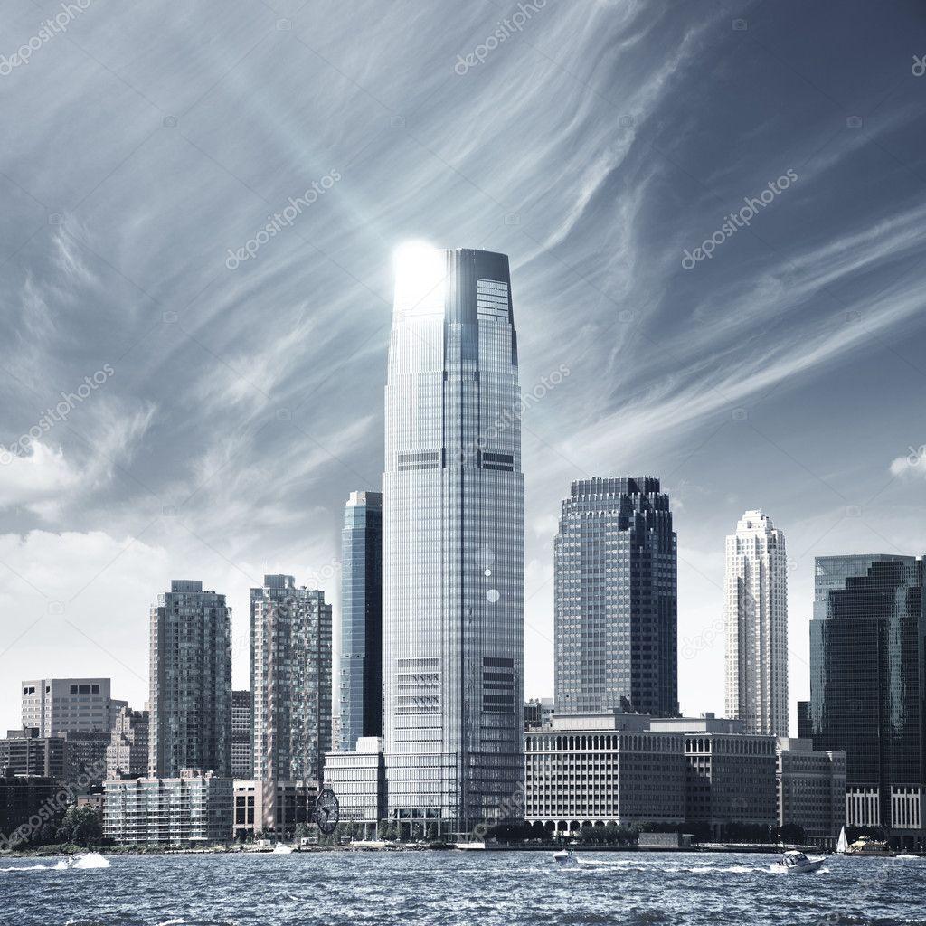 Фотообои Будущее города - Нью-Йорка
