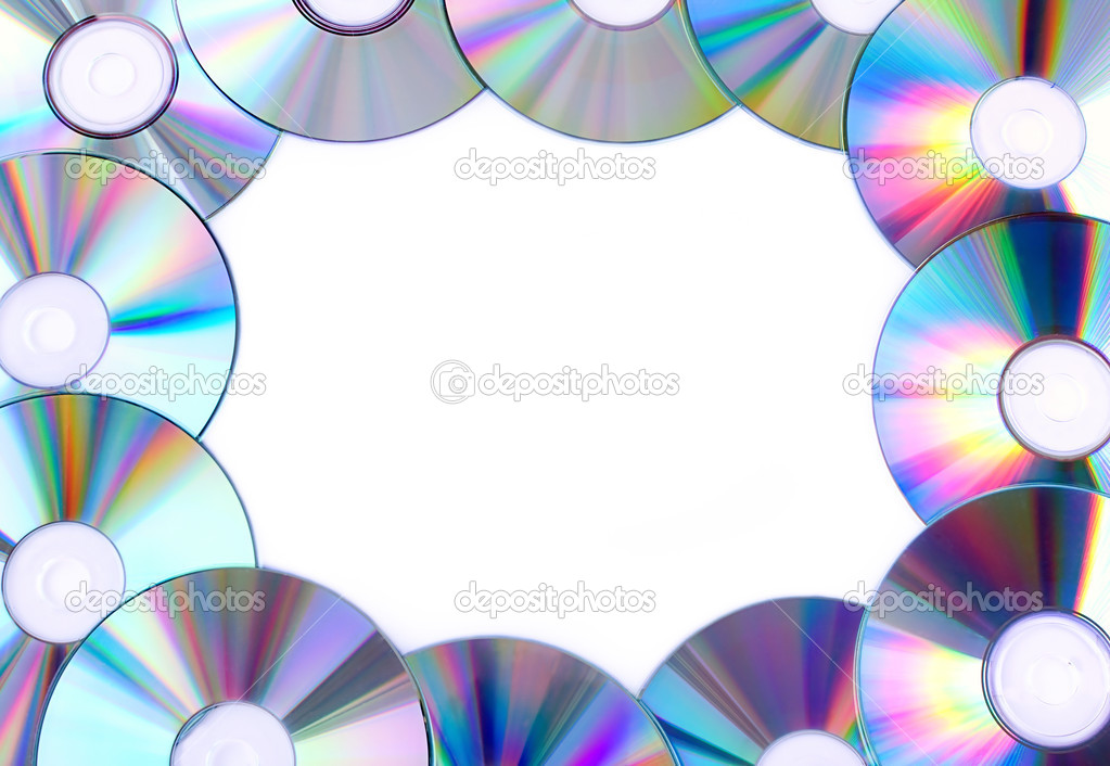 Frame from CDs — Stock Photo © Evgeni #9112708