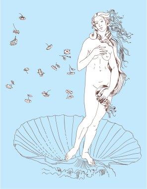 Nascita di Venere. The birth of Venus (Botticelli).