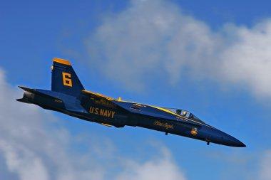 Marine Corps Blue Angels demonstration squadron on F18 Hornet je