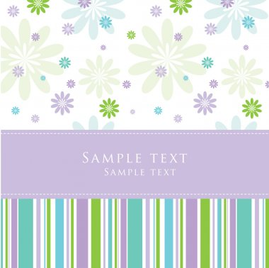Greeting card with copy space stock vector