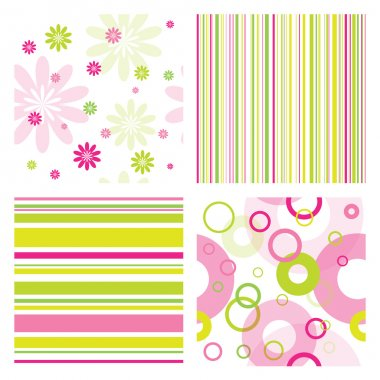 Seamless patterns clip art vector