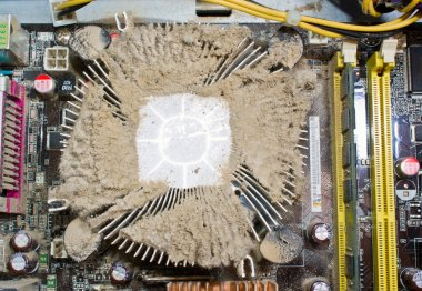 Dirty cooler of the processor