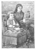 Fotografie malý kluk se svou matkou