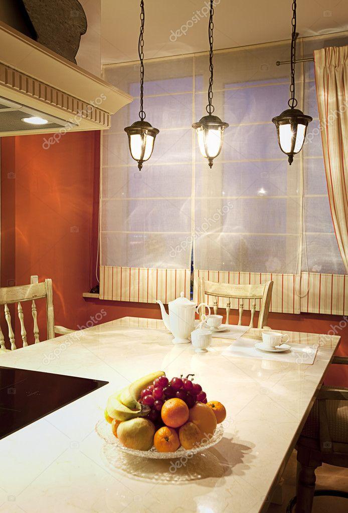 interior de un salón comedor moderno — Foto de stock ...