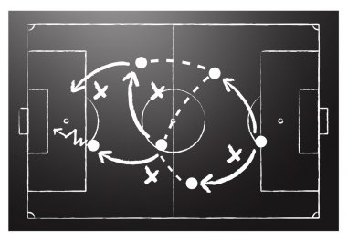 Soccer formation tactics abstract vector background stock vector