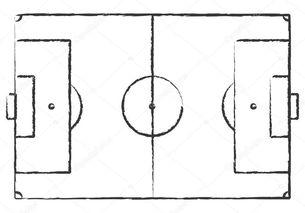 Hand Drawn Grunge Soccer Field  U2014 Stock Vector  U00a9 Burakowski