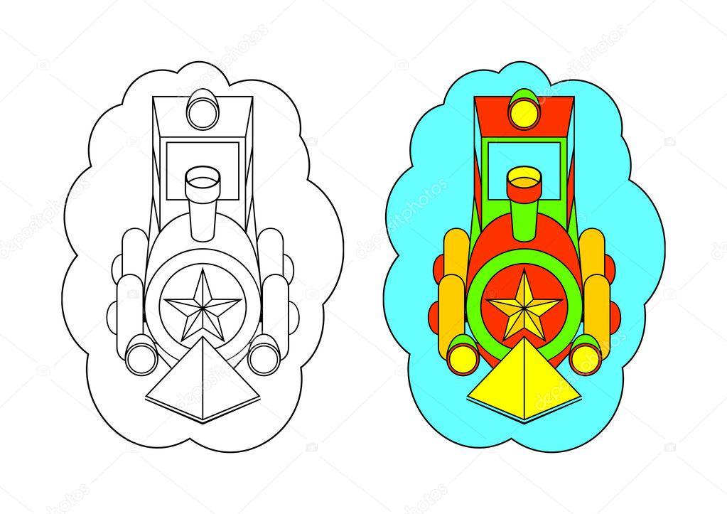 Dibujos: tren diesel para colorear | la imagen para colorear ...
