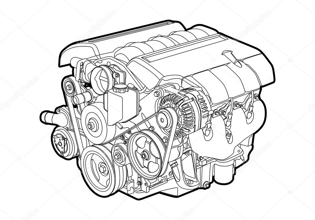 Engine Stock Vectors Royalty Free Engine Illustrations