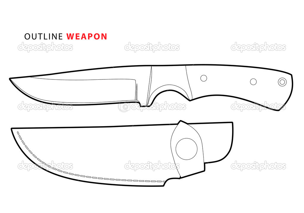 knife drawing outline