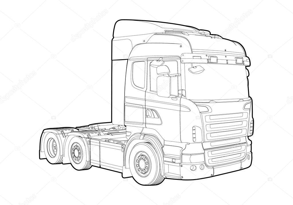 overzicht vrachtwagen stockvector 169 chisnikov 9218740