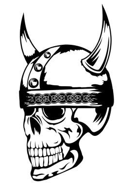 Skull in helmet Vikings 3