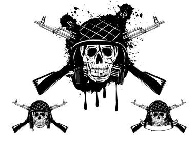 Skull in helmet automatic
