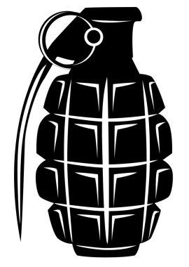 Vector image of an army manual grenade stock vector