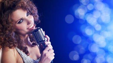 Portrait of singing woman