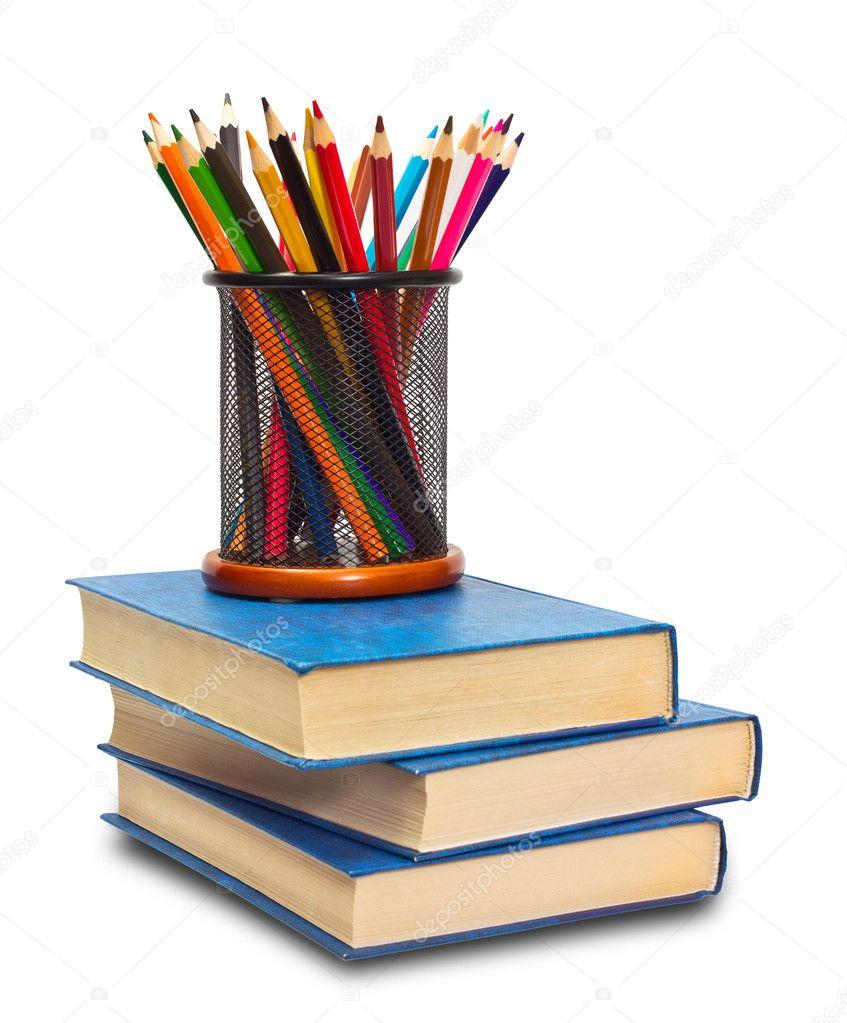 https depositphotos com 9549669 stock photo book and pencils html