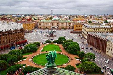 Gloomy view on St. Petersburg,