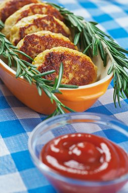 Cutlets and rosemary