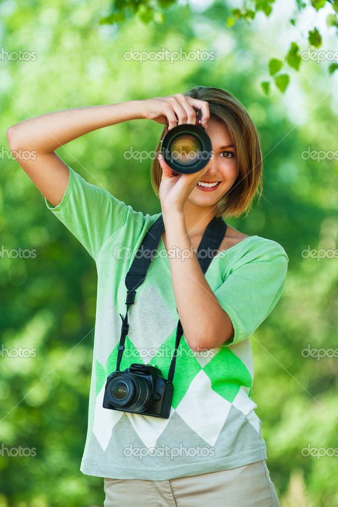 Women with two cameras