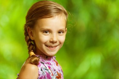 Portrait of beautiful smiling girl