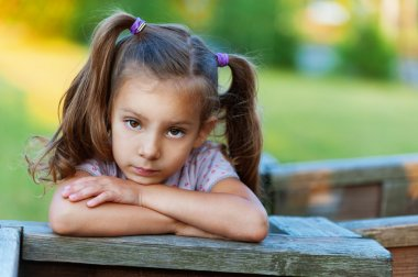 Portrait of sad girl (child)