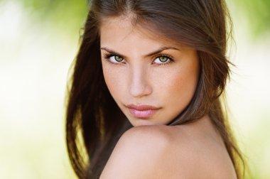 Portrait of seductive girl