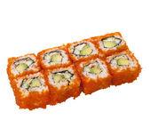 sushi-rolle mit kaviar