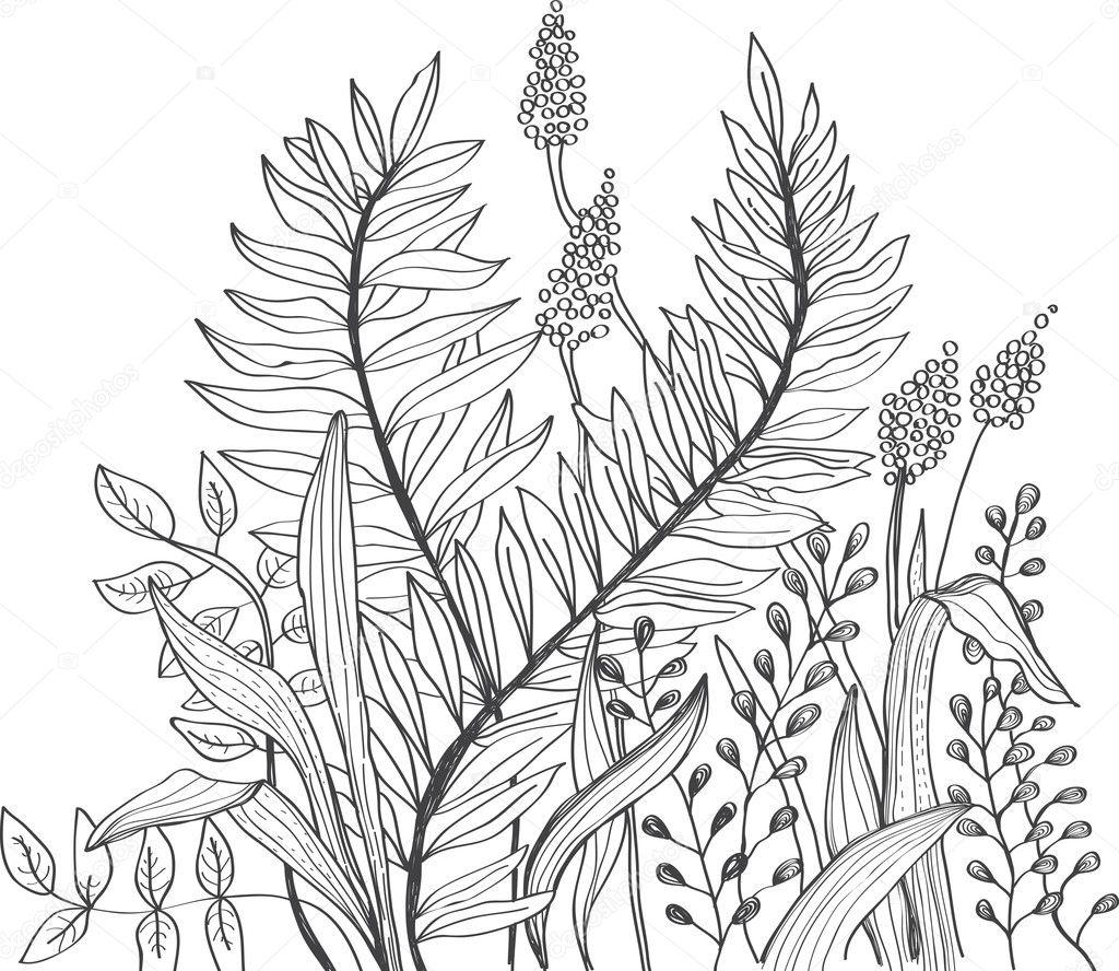 Romantic doodle flower background