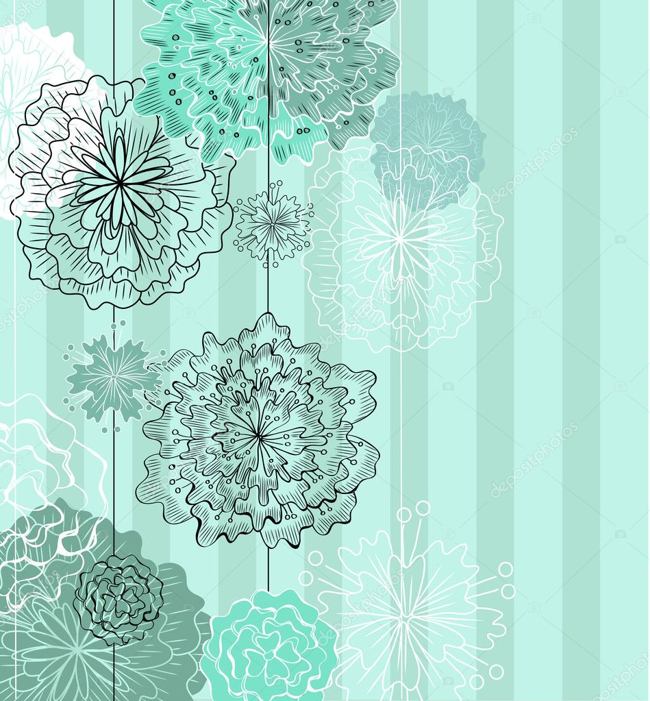 beautiful floral card