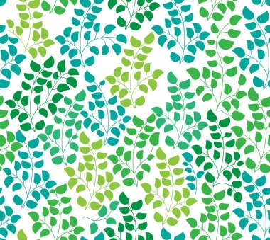 Seamless color pattern with leaf