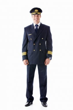The pilot on a white background stock vector