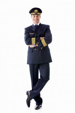 A man dressed as a pilot