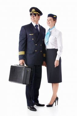 Aviator and stewardess
