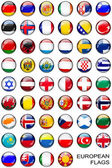 Gomb európai zászlók