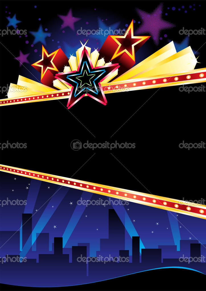 Poster design for entertainment event in city stock vector