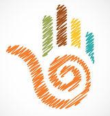 ikona vychytralí barevné ruky