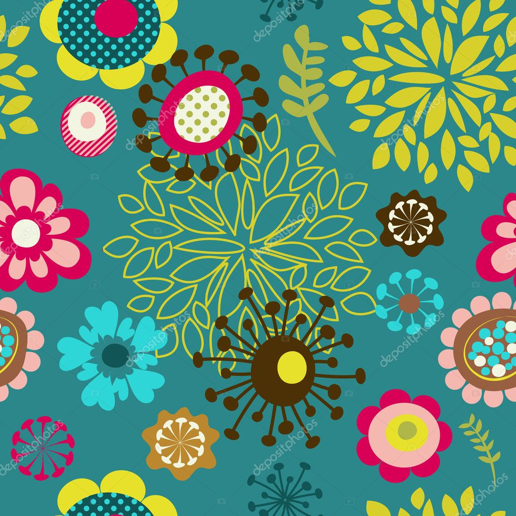 Background image 8841 - Seamless Flower Pattern Background Stock Vector 8841258