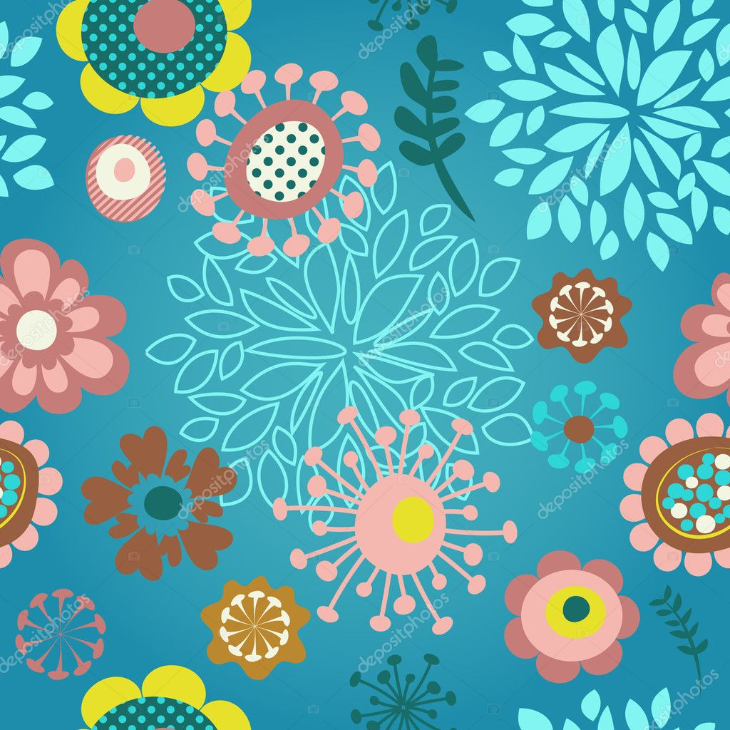 Background image 8841 - Seamless Flower Pattern Background Stock Vector 8841262