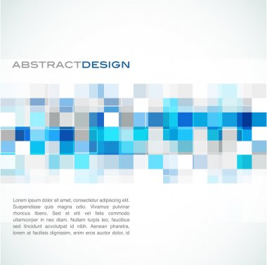 Blue abstract banner