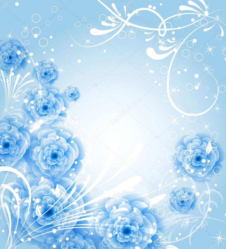 Vector Flower Background For Invitation Stock Vector