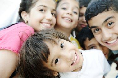 Group of happy children, beautiful photo