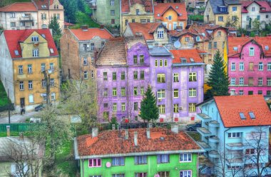 Colorful buildings city