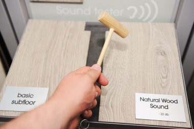 Measuring natural sound of wooden floor