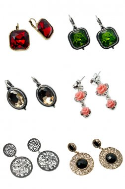 A set of earrings